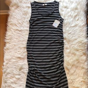 A:Glow NWT Maternity striped sleeveless dress